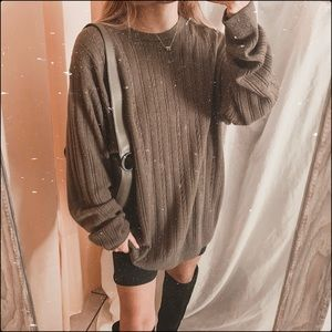 Dark green lightweight cable knit soft pullover